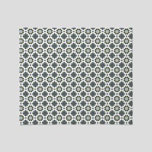 Orchid Kaleidoscope Pattern Throw Blanket