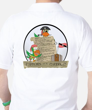 Parrots of the Caribbean Golf Shirt