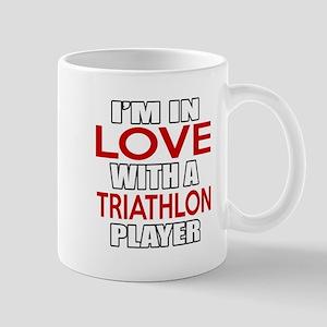 I Am In Love With Triathlon Play 11 oz Ceramic Mug