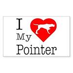 I Love My Pointer Sticker (Rectangle)