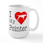 I Love My Pointer Large Mug