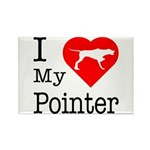I Love My Pointer Rectangle Magnet (100 pack)
