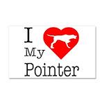 I Love My Pointer Car Magnet 20 x 12