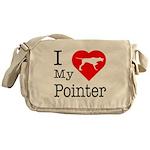 I Love My Pointer Messenger Bag