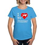 I Love My Pointer Women's Dark T-Shirt