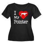 I Love My Pointer Women's Plus Size Scoop Neck Dar