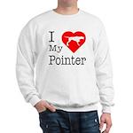 I Love My Pointer Sweatshirt