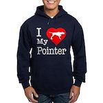 I Love My Pointer Hoodie (dark)