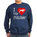 I Love My Pointer Sweatshirt (dark)