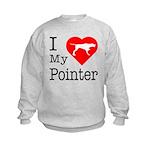 I Love My Pointer Kids Sweatshirt