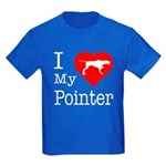 I Love My Pointer Kids Dark T-Shirt