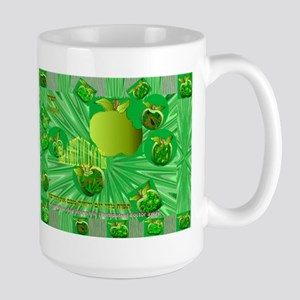 Hebrew Word for Apple in a Large Mug
