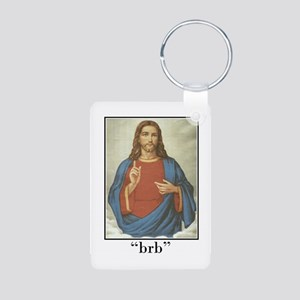 BRB JESUS (BE RIGHT BACK) Aluminum Photo Keychain