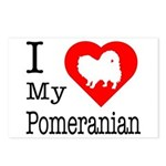 I Love My Pomeranian Postcards (Package of 8)