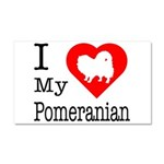 I Love My Pointer Car Magnet 20 x 12