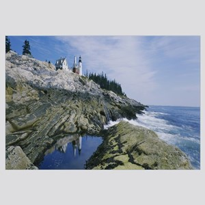 Lighthouse at the coast, Pemaquid Point, Maine