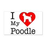I Love My Poodle 22x14 Wall Peel