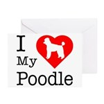 I Love My Poodle Greeting Cards (Pk of 20)