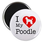 I Love My Poodle 2.25