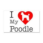 I Love My Poodle Car Magnet 20 x 12