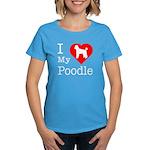 I Love My Poodle Women's Dark T-Shirt