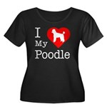 I Love My Poodle Women's Plus Size Scoop Neck Dark