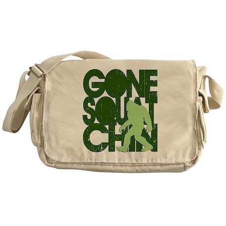 Gone Squatchin' Green Distres Messenger Bag