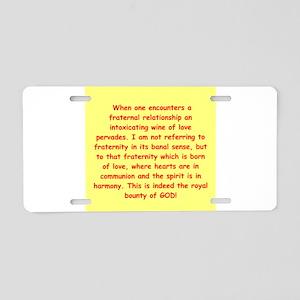 Sufi Sayings Aluminum License Plate