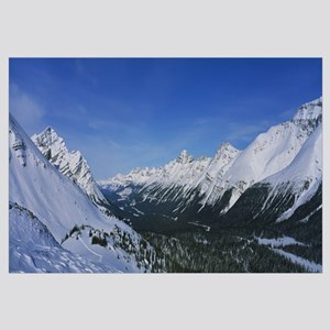 Snowcapped mountains on a landscape, Bow Summit, B