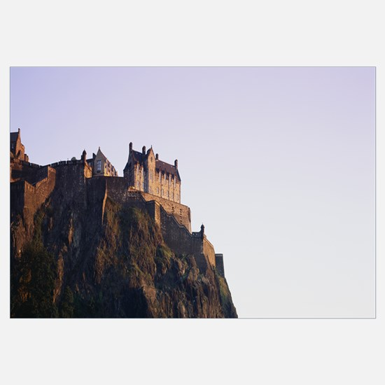 Low angle view of a castle on top of a hill, Edinb