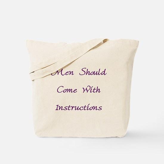 Men & Instructions Tote Bag