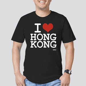 I love Hong Kong Men's Fitted T-Shirt (dark)