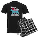 Husky Pawprints Men's Dark Pajamas