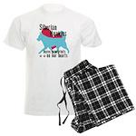 Husky Pawprints Men's Light Pajamas