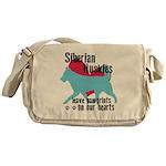 Husky Pawprints Messenger Bag