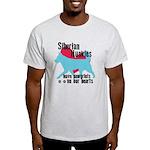 Husky Pawprints Light T-Shirt