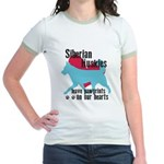 Husky Pawprints Jr. Ringer T-Shirt