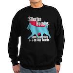 Husky Pawprints Sweatshirt (dark)