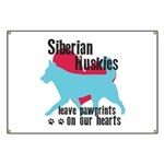Husky Pawprints Banner
