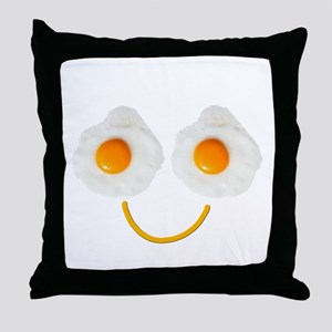 Mr. Egg Face Throw Pillow