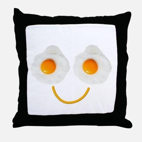 Mr. Egg Face Throw Pillow