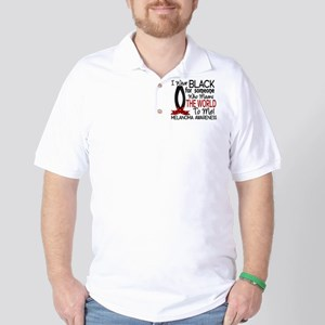 Means World To Me 1 Melanoma Golf Shirt