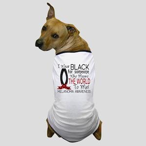 Means World To Me 1 Melanoma Dog T-Shirt