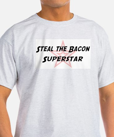 Steal the Bacon Superstar Ash Grey T-Shirt