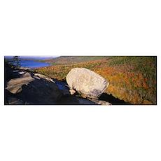 High angle view of a rock, Bubble Rock, Bubble Mou Poster