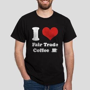 I Heart Fair Trade Coffee Dark T-Shirt