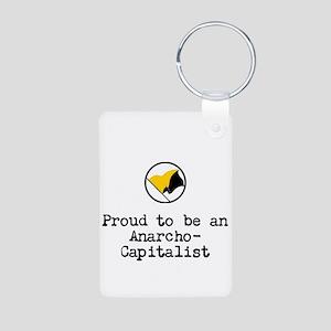 Proud Anarcho-Communist Aluminum Photo Keychain