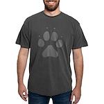 Wolf Paw Print Mens Comfort Colors Shirt