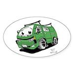 TET's Frog Van Sticker (Oval)