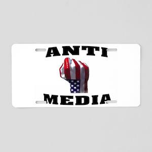 ANTI-MEDIA Aluminum License Plate